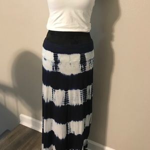 Tie dyed maxi skirt